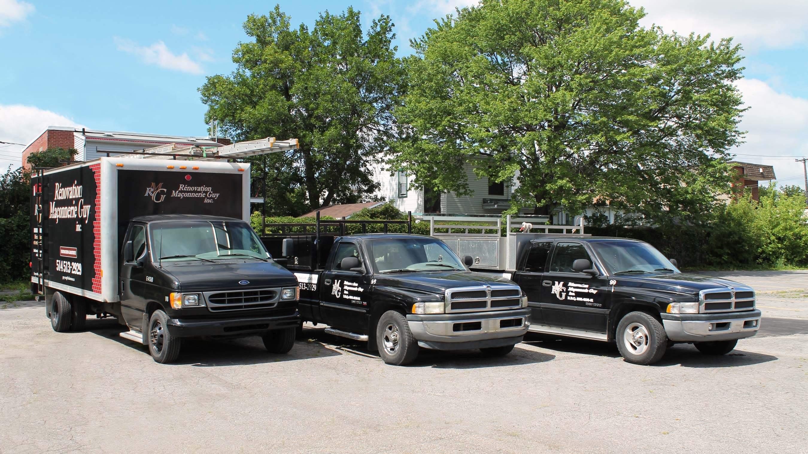 Camions rénovation maçonnerie guy